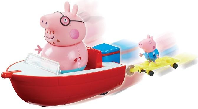 Le hors bord de peppa pig avec georges et papa pig 2 figurines - Jeux de papa pig ...