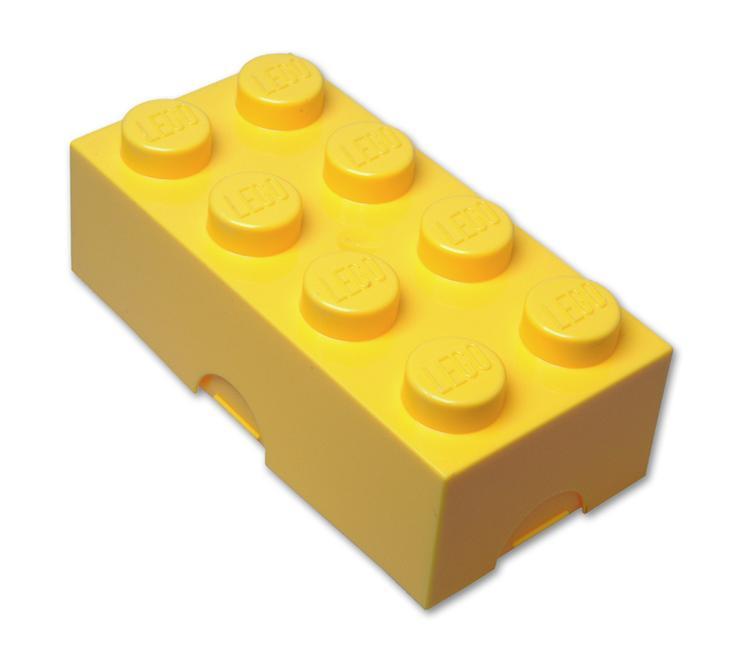 Box rangement plastique lego bote de rangement lego 8 plots bote goter lego - Boites rangement lego ...