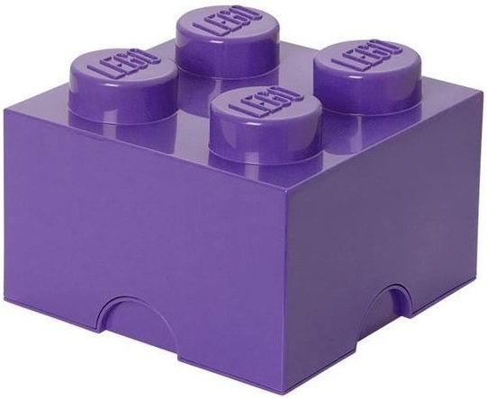 acheter brique de rangement lego violet 4 tenons pas cher. Black Bedroom Furniture Sets. Home Design Ideas