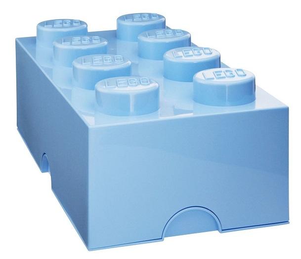 acheter moins cher bo te rangement enfant 8 plots bleu ciel lego. Black Bedroom Furniture Sets. Home Design Ideas