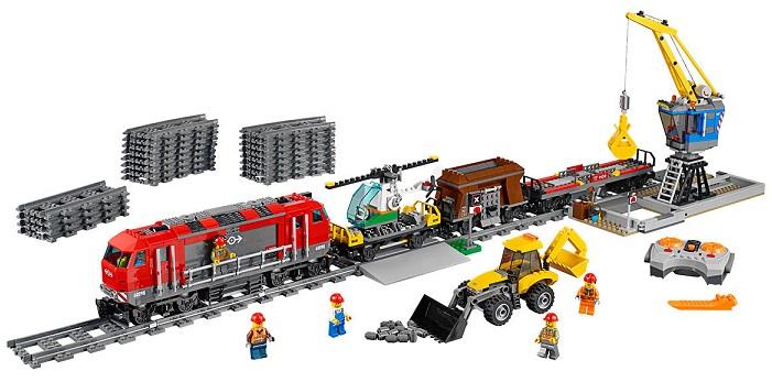 lego city 60098 le train de marchandises rouge motoris. Black Bedroom Furniture Sets. Home Design Ideas