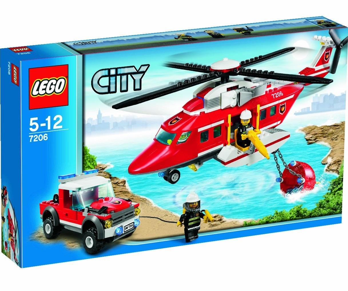 lego city 7206 lhelicoptere des pompiers - Lego City Pompier