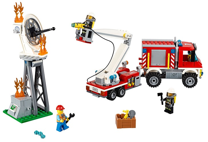 City Pompiers Le Camion D'intervention Des 60111 Lego FTJcuK3l15