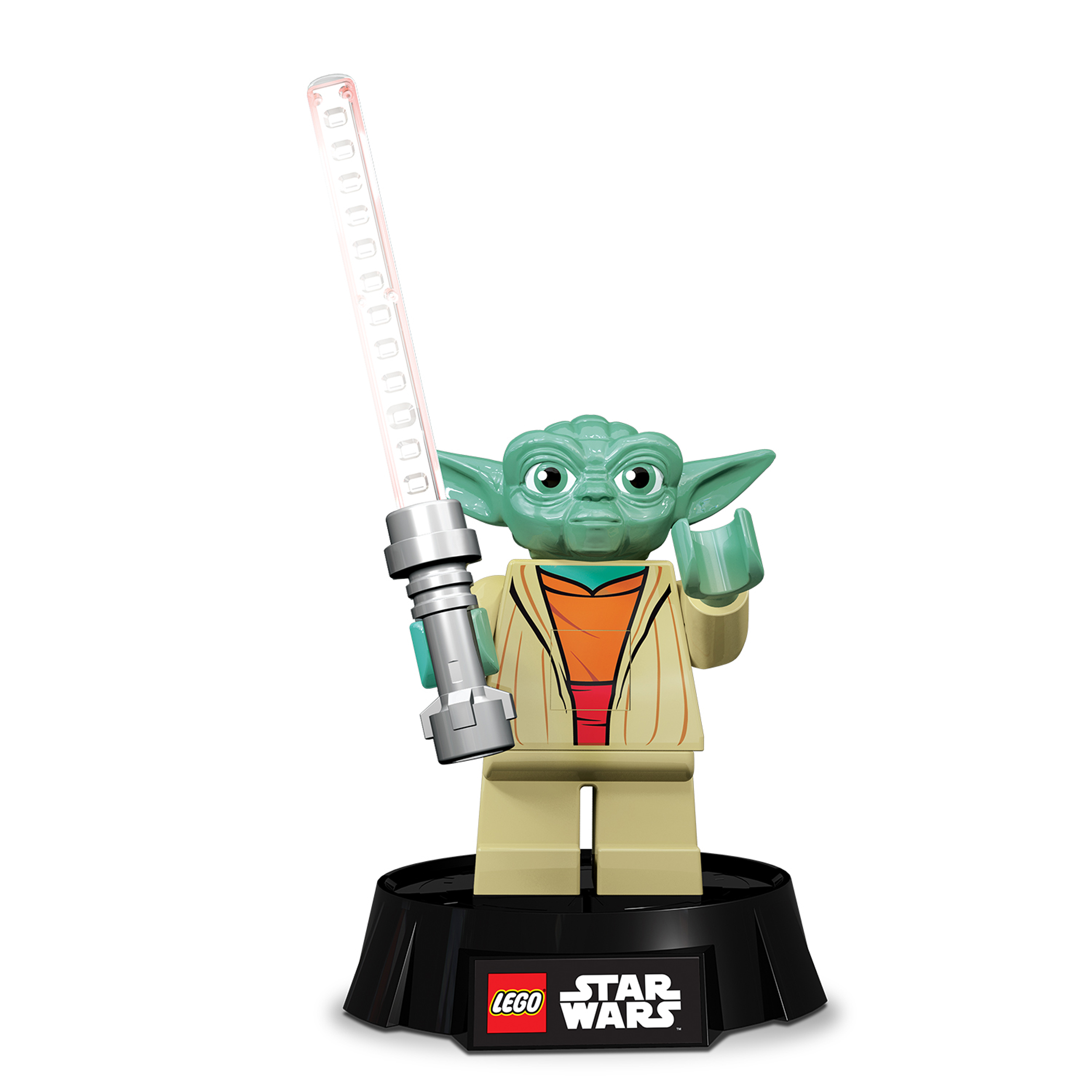 lampe de bureau 12 led maitre yoda figurine lego star wars. Black Bedroom Furniture Sets. Home Design Ideas