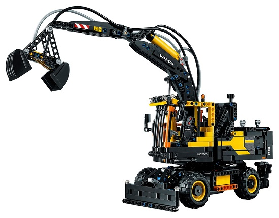 lego technic 42053 pelleteuse sur pneus volvo ew160e. Black Bedroom Furniture Sets. Home Design Ideas