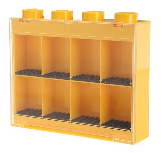 Lego vitrine de rangement jaune mini figurines 8 cases - Caisse de rangement lego ...