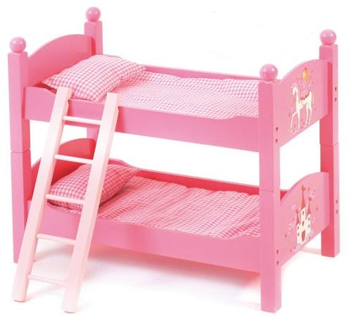 lits superpos s rose poup e jouet lit jumeaux poupon chic 2000. Black Bedroom Furniture Sets. Home Design Ideas
