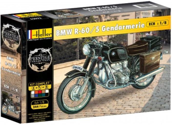 maquette heller 52992 moto bmw r 60 5 gendarmerie chelle 1 8. Black Bedroom Furniture Sets. Home Design Ideas