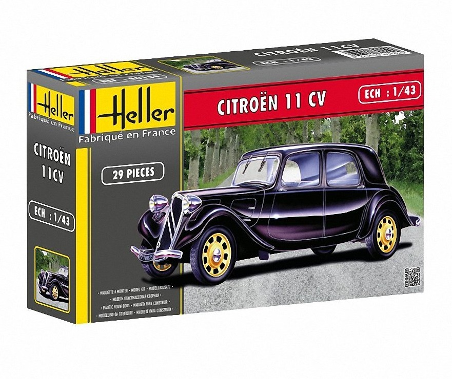 heller 80159 maquette 1 43 voiture citro n noir 11 cv peinture non fournie. Black Bedroom Furniture Sets. Home Design Ideas