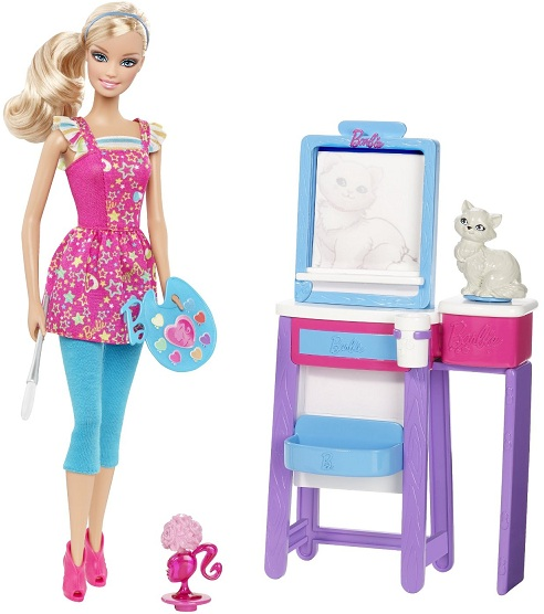 barbie professeur de dessin v6933 poup e barbie artiste peintre univers poup es barbie pas cher. Black Bedroom Furniture Sets. Home Design Ideas