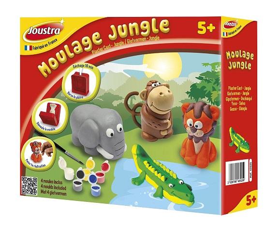 coffret moulage pl tre joustra jungle 4 animaux 43525. Black Bedroom Furniture Sets. Home Design Ideas