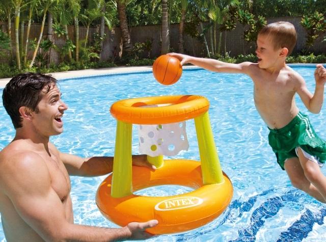 Panier de basket gonflable piscine intex au meilleur prix for Panier de basket pour piscine