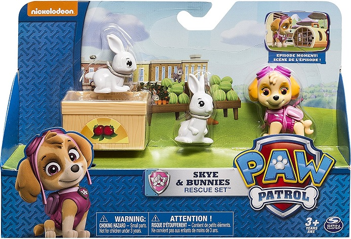 pat patrouille chienne stella 2 lapins cage master paw patrol. Black Bedroom Furniture Sets. Home Design Ideas