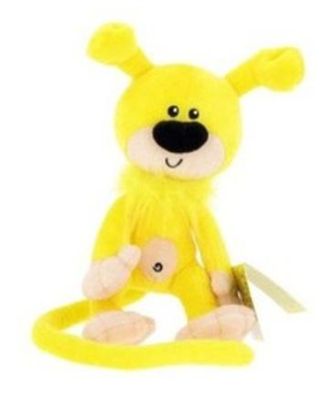 peluche bebe marsupilami jaune