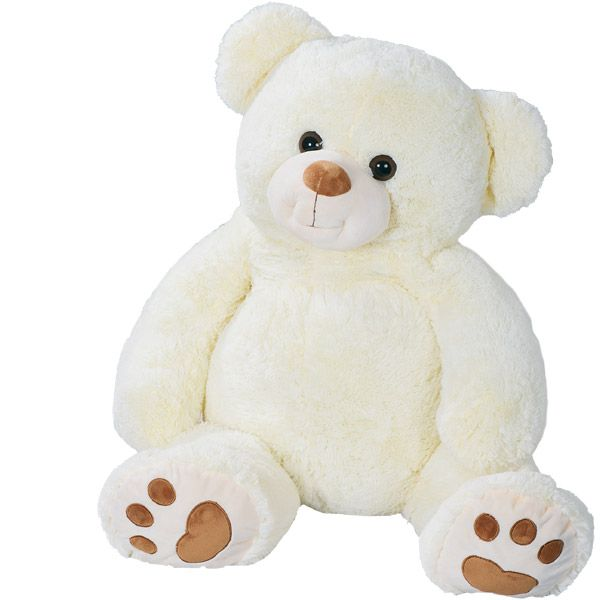peluche g ante ours blanc 1 m tre grand doudou ourson. Black Bedroom Furniture Sets. Home Design Ideas