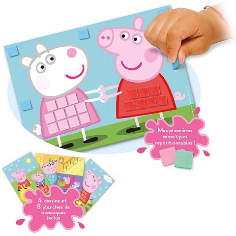 Mes premières mosaïques Peppa Pig et ses amis - Kit Lansay