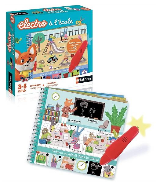 Petit Electro à l'école 3-5 ans Nathan Livre-Jeu Quiz 31526