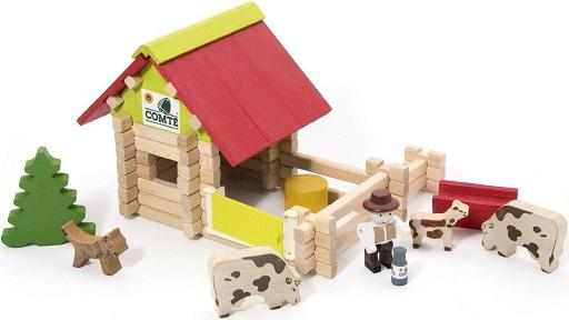 Jolie ferme en bois jeujura ferme en bois 70 pices jouet - Jeu de construction de maison virtuel ...