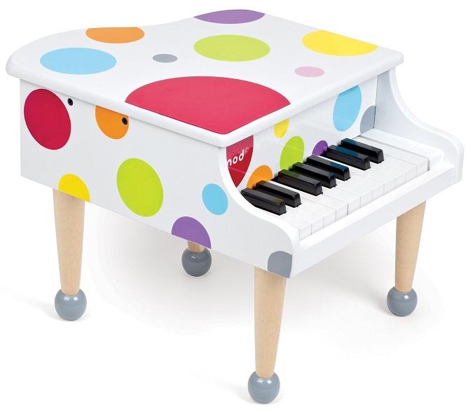 Janod Piano queue Confetti J07627 Jouet Instrument de musique ~ Jouet En Bois Janod
