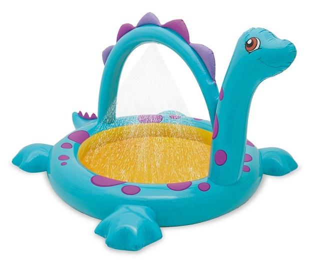 Piscine fontaine dino avec jets deau intex jeu enfant for Piscine enfant intex
