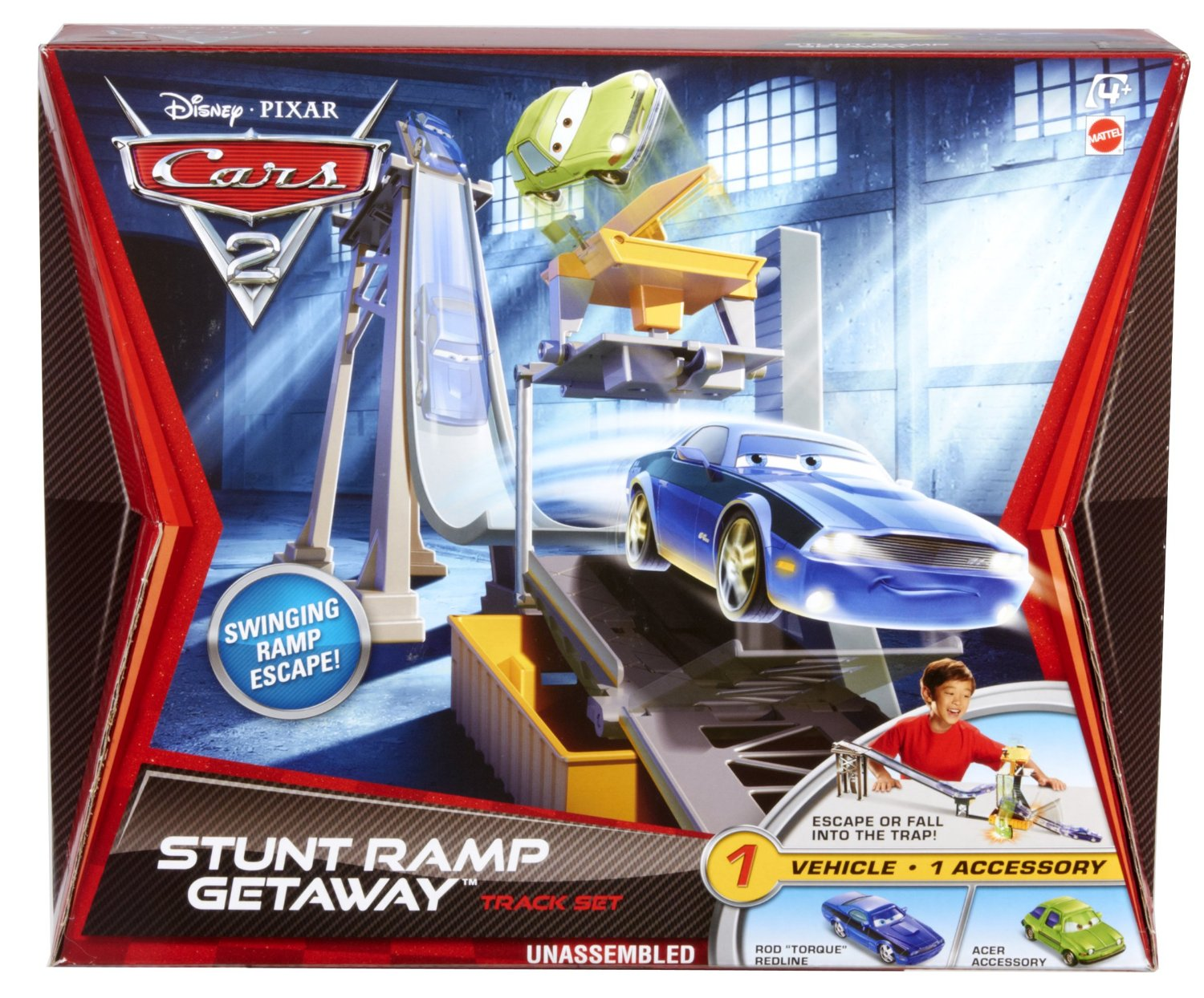 piste de voitures cars 2 cars 2 rampe cascade vasion set de jeu cars 2. Black Bedroom Furniture Sets. Home Design Ideas