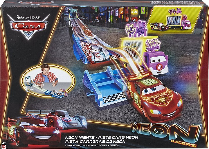 mattel cbn06 piste de voiture n on racers avec rampe. Black Bedroom Furniture Sets. Home Design Ideas