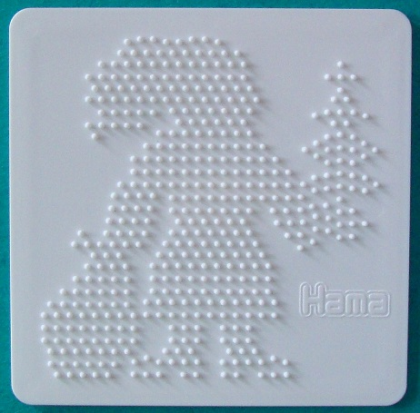 plaque p re no l hama plaques picots pour perles hama 284. Black Bedroom Furniture Sets. Home Design Ideas