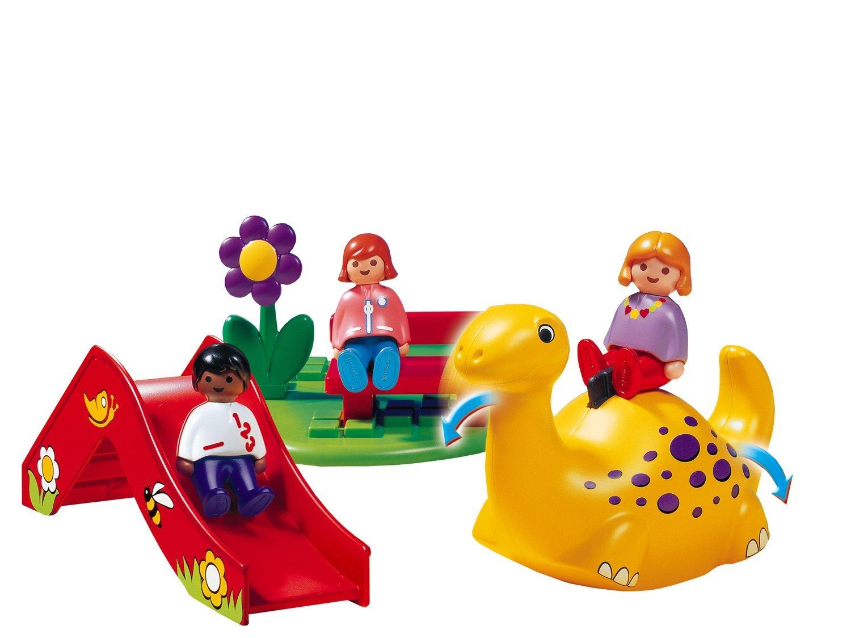 playmobil 1 2 3 6748 enfant aire de jeux dinosaure. Black Bedroom Furniture Sets. Home Design Ideas