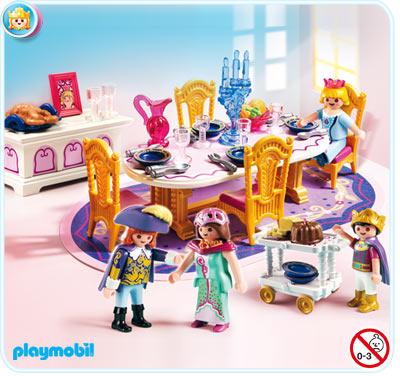 Salle manger royale playmobil 5145 ch teau de la for Salle de sejour playmobil