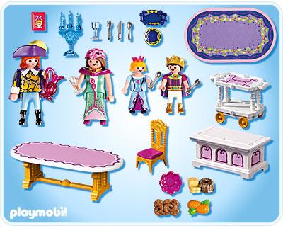 Salle manger royale playmobil 5145 chteau de la princesse for Salle a manger playmobil