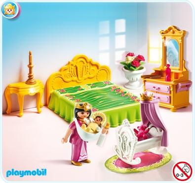 Chambre bébé Playmobil princesse 5146 chambre de la reine avec berceau