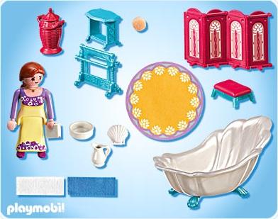 Playmobil 5147 salle de bain royale chteau de princesse neuf for Image chateau princesse