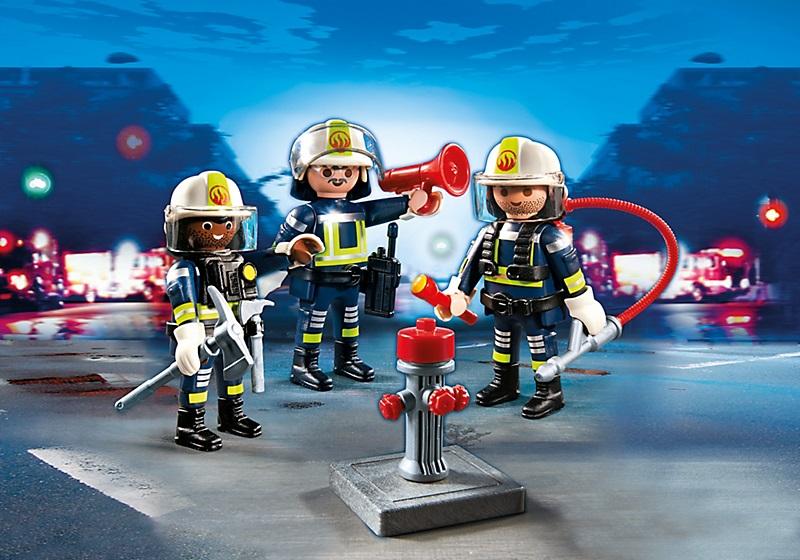 Jouet playmobil pompiers 5366 figurines unit de pompiers - Playmobil de pompier ...