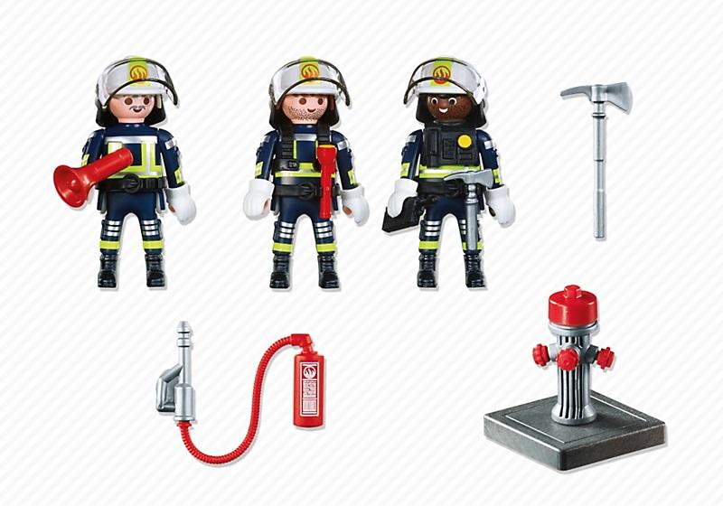 jouet playmobil pompiers 5366 figurines unit de pompiers. Black Bedroom Furniture Sets. Home Design Ideas