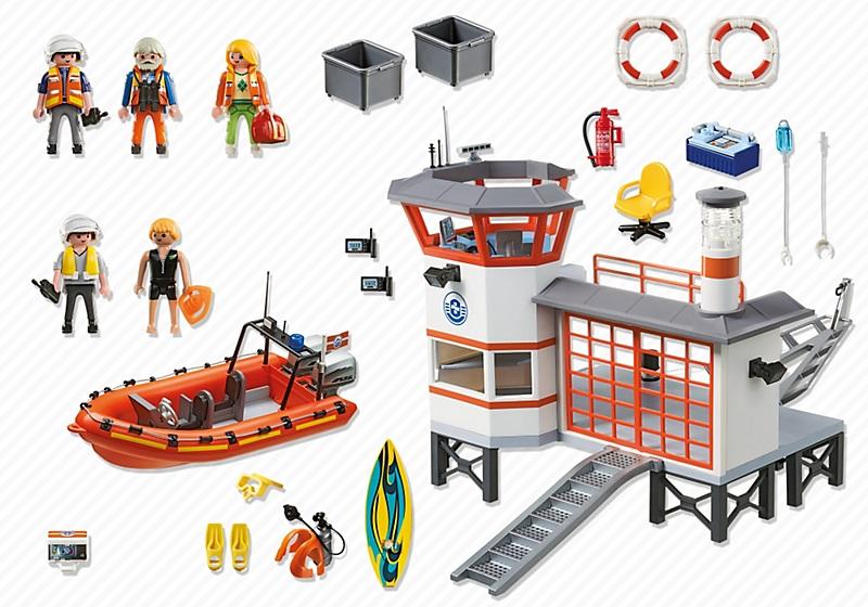 jouet 5539 playmobil poste de secours des sauveteurs en mer. Black Bedroom Furniture Sets. Home Design Ideas