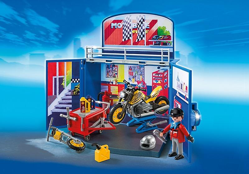 Playmobil 6157 Coffre Atelier De Moto Cavernedesjouets
