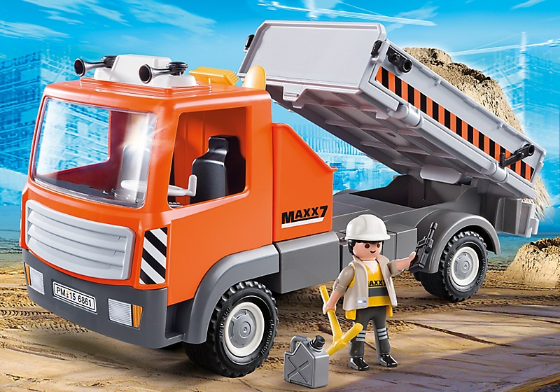jouet playmobil city action le camion de chantier 6861. Black Bedroom Furniture Sets. Home Design Ideas