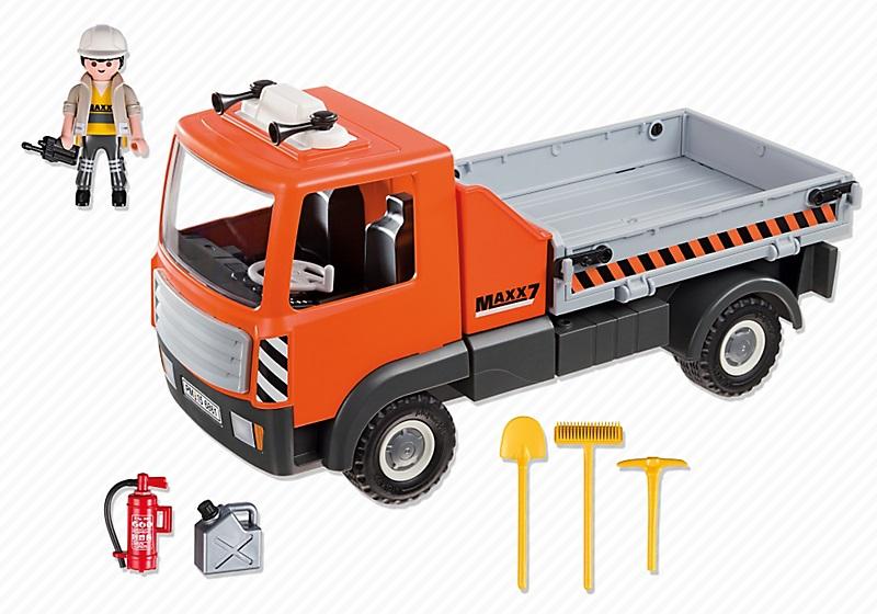 Jouet playmobil city action le camion de chantier 6861 - Playmobil camion ...