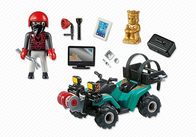 Jouet playmobil police 6879 quad avec treuil et bandit - Playmobile policier ...