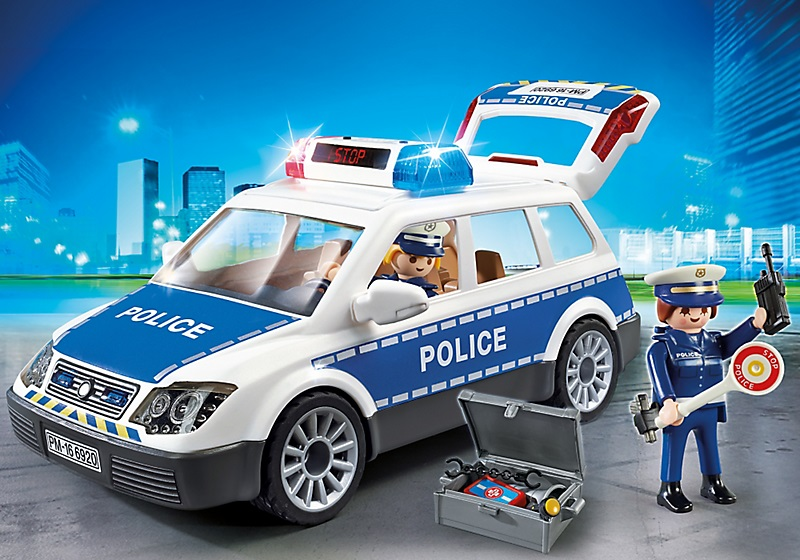 playmobil 6920 voiture de police avec gyrophare sir ne. Black Bedroom Furniture Sets. Home Design Ideas