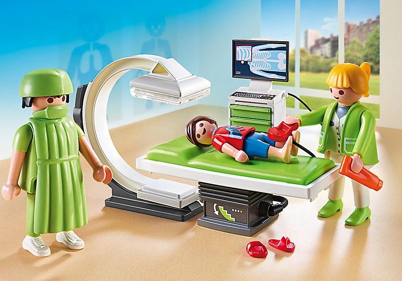 Playmobil city life h pital 6659 salle de radiologie for Hospital de playmobil