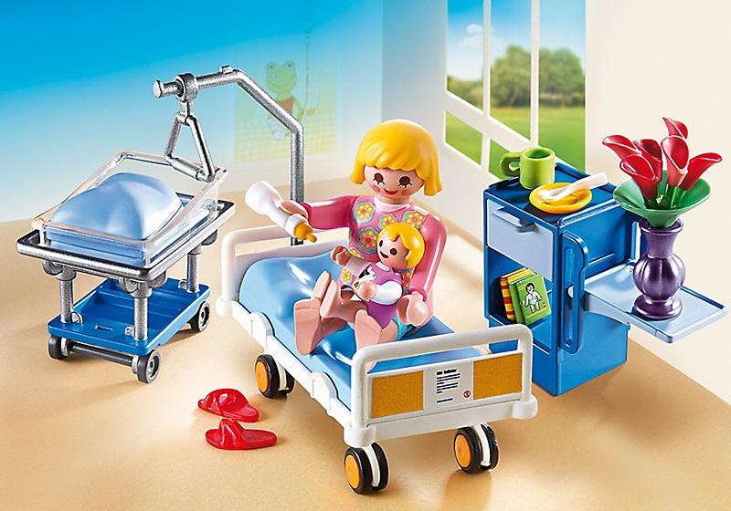 Playmobil 6660 chambre de maternit cavernedesjouets for Playmobil salon de coiffure