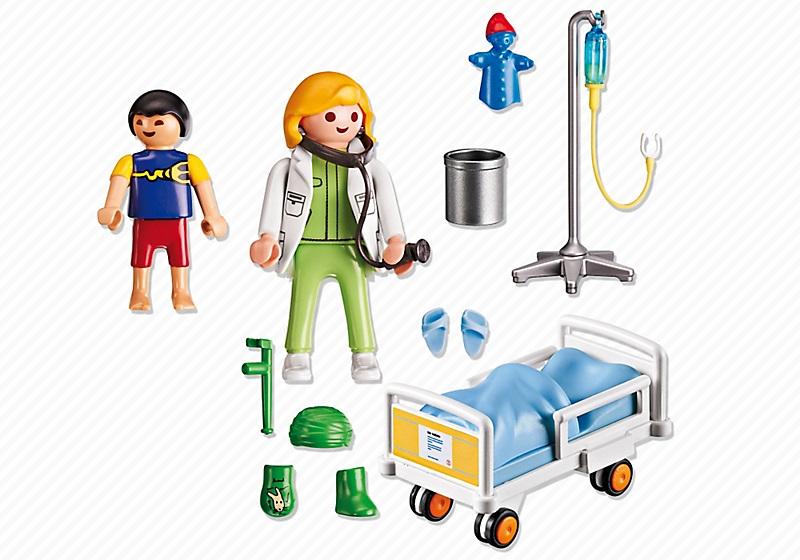 Playmobil h pital chambre denfant avec m decin 6661 for Hospital de playmobil