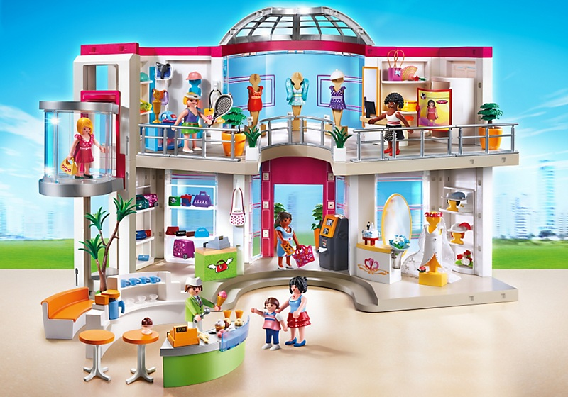 art playmobil city life  le grand magasin amenage
