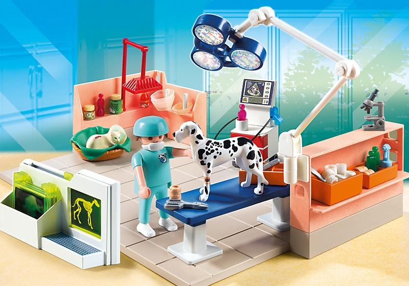 Playmobil v t rinaire et salle d op ration 5530 for Salle a manger playmobil city life