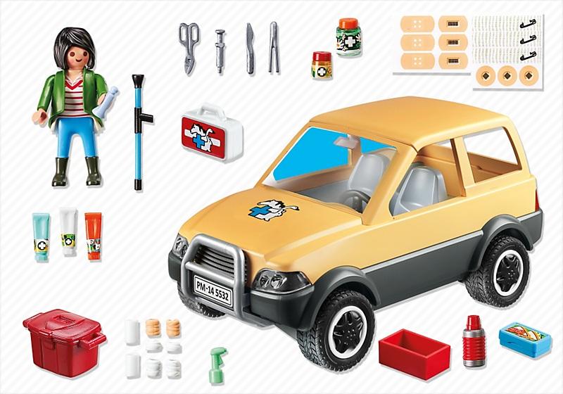 Acheter playmobil 5532 v t rinaire avec voiture 4x4 moins cher - Camping car playmobil pas cher ...