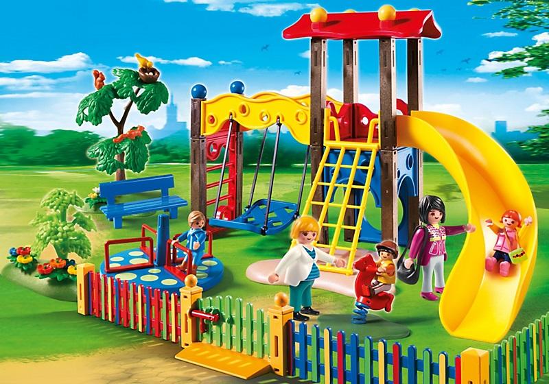 square pour enfants avec jeux playmobil ville 5568 nouveaut. Black Bedroom Furniture Sets. Home Design Ideas