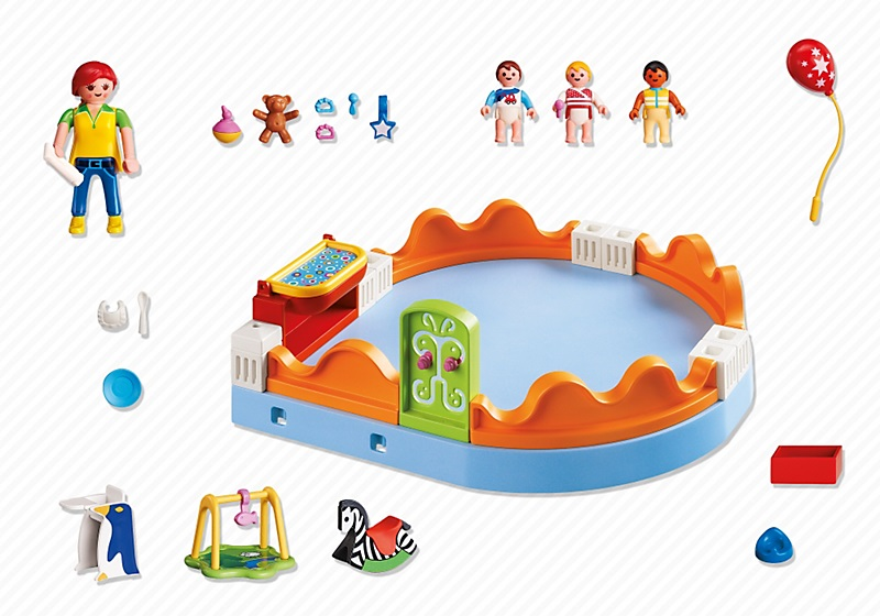 art playmobil city life  espace creche avec bebes