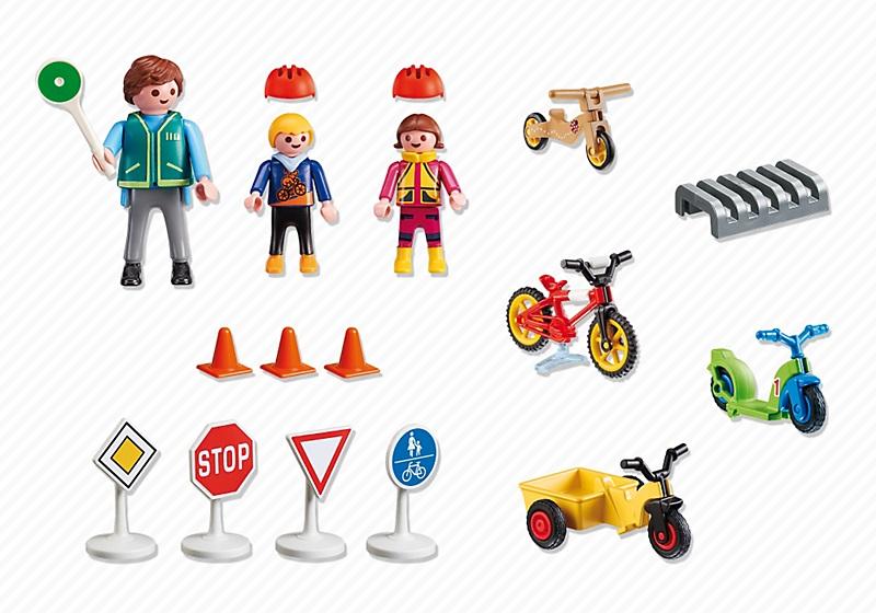 playmobil enfants avec agent de s curit routi re 5571. Black Bedroom Furniture Sets. Home Design Ideas