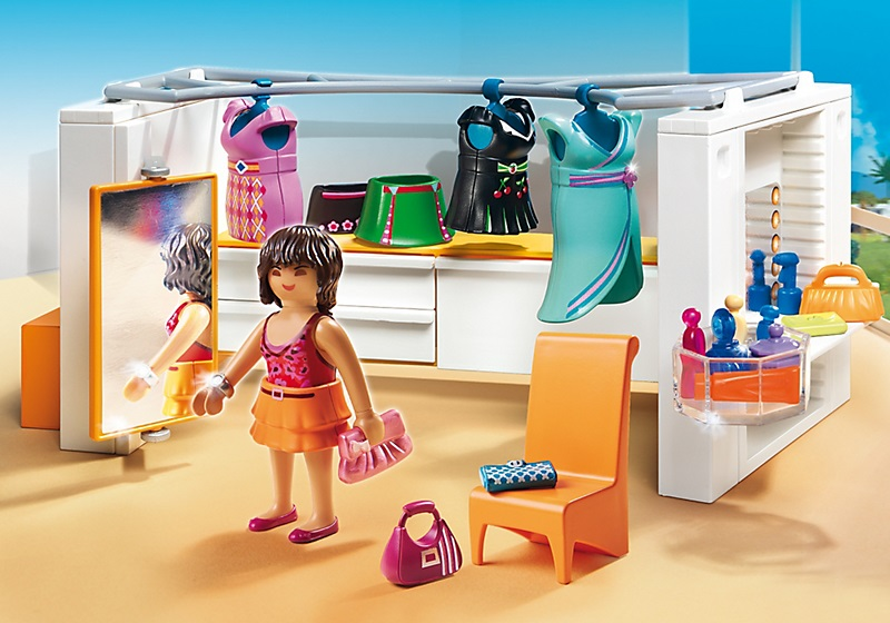 Playmobil city life 5576 dressing caverne des jouets for Salle a manger playmobil city life